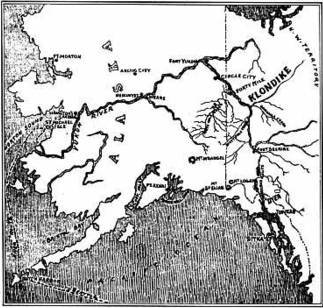 Map Showing the Yukon Country, 17 July 1897, Seattle Post-Intelligencer, first edition.
